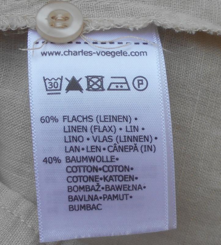 Льняная летняя легкая рубашка с коротким рукавом - Фото 4
