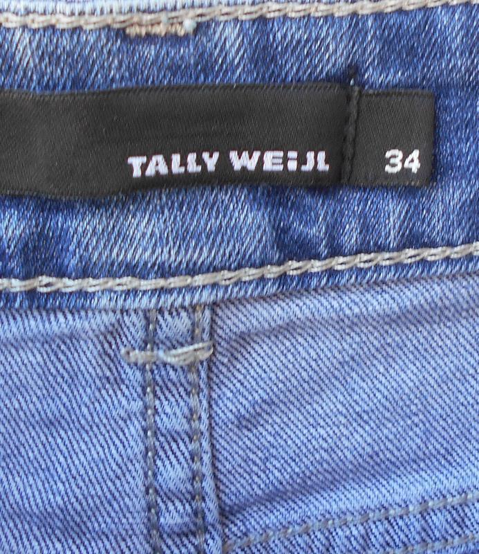 Модные синие потертые джинсовые шорты с кружевом 🌿 - Фото 3