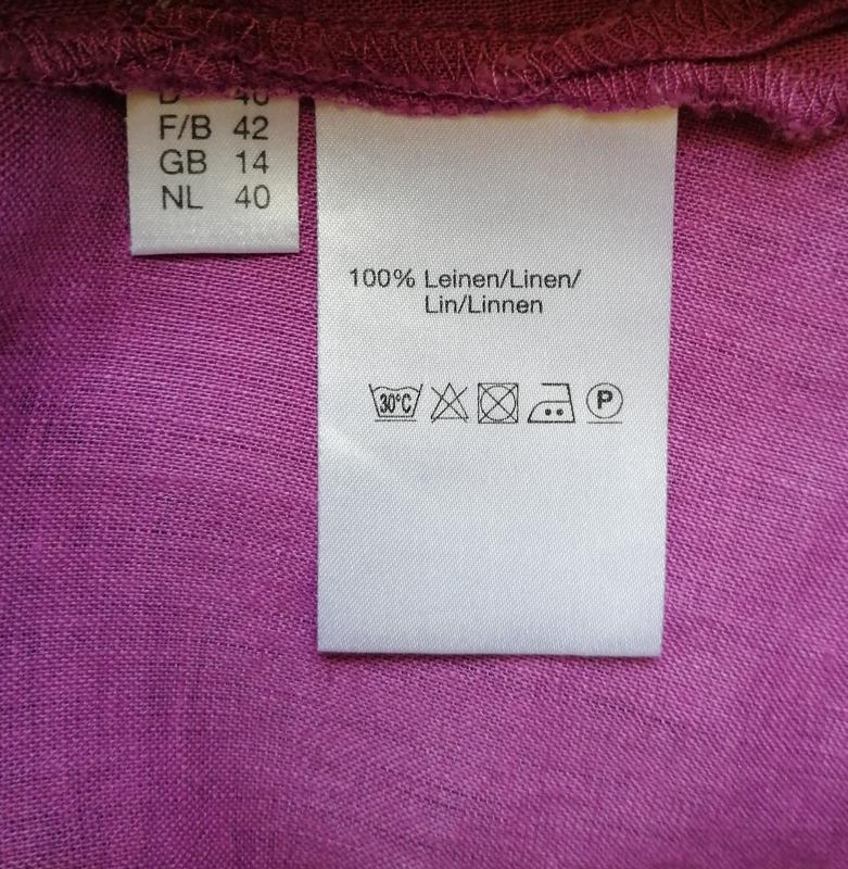 Льняная летняя рубашка с воротником с длинным рукавом - Фото 4