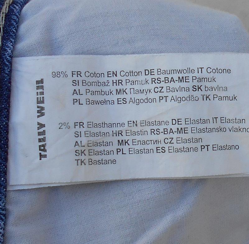 Модные синие потертые джинсовые шорты с кружевом 🌿 - Фото 4