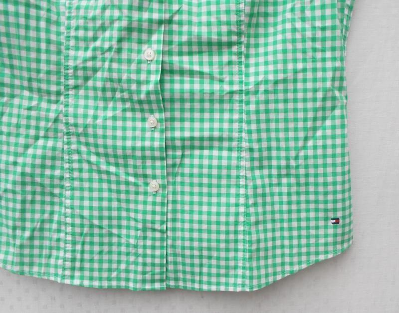Хлопковая рубашка с воротником в клетку с коротким рукавом 🌿 - Фото 3