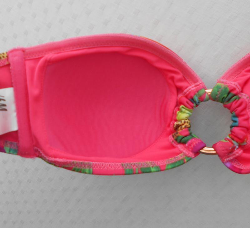 Розовый верх от купальника бандо с рисунком 🌿 - Фото 5