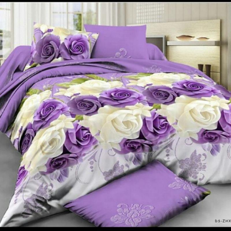 Постільна білизна фіолетові рози