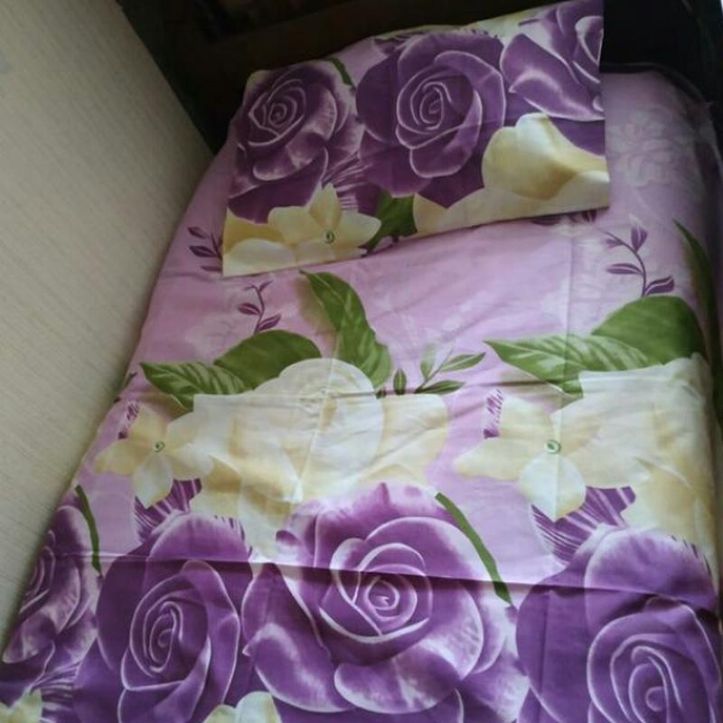 Постільна білизна фіолетові рози - Фото 3