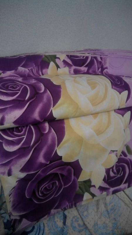 Постільна білизна фіолетові рози - Фото 4