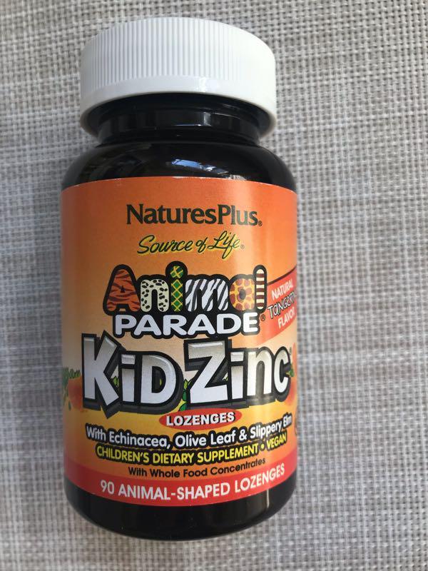 Цинк, цинк для детей вкус натурального апельсина от Animal Parade