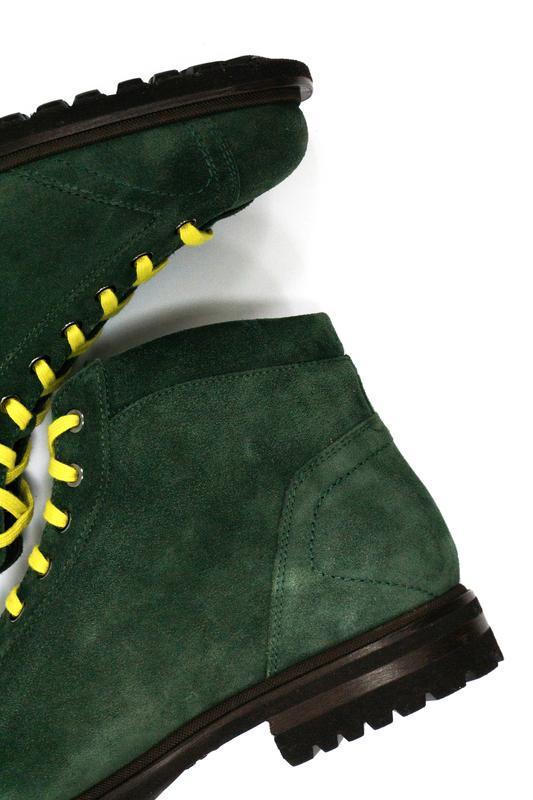 Замшевые ботинки - хайкеры santoni