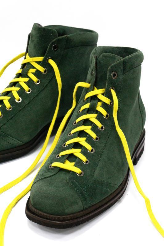 Замшевые ботинки - хайкеры santoni - Фото 3