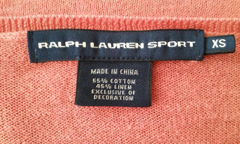 Легкий свитер актуального лососевого цвета, хлопок+лен - Фото 2