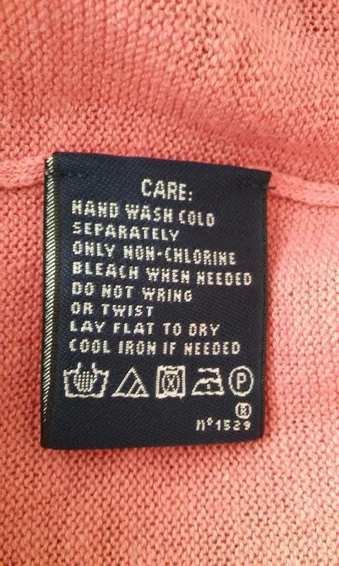 Легкий свитер актуального лососевого цвета, хлопок+лен - Фото 4