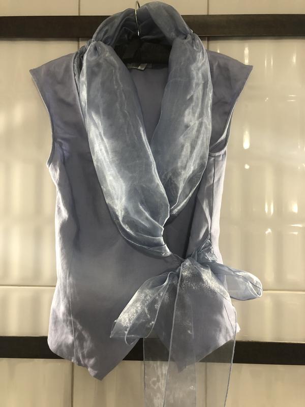 Роскошная блуза из льна и органзы. - Фото 2