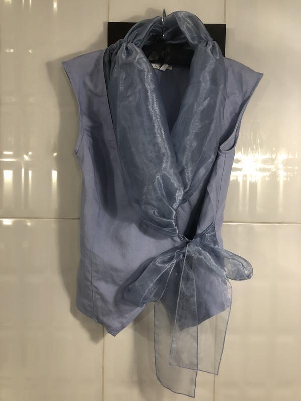 Роскошная блуза из льна и органзы.