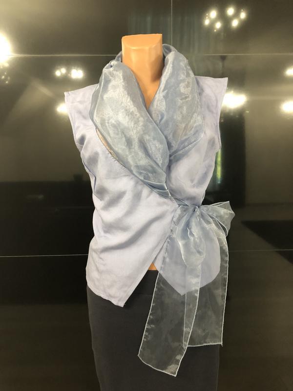 Роскошная блуза из льна и органзы. - Фото 3