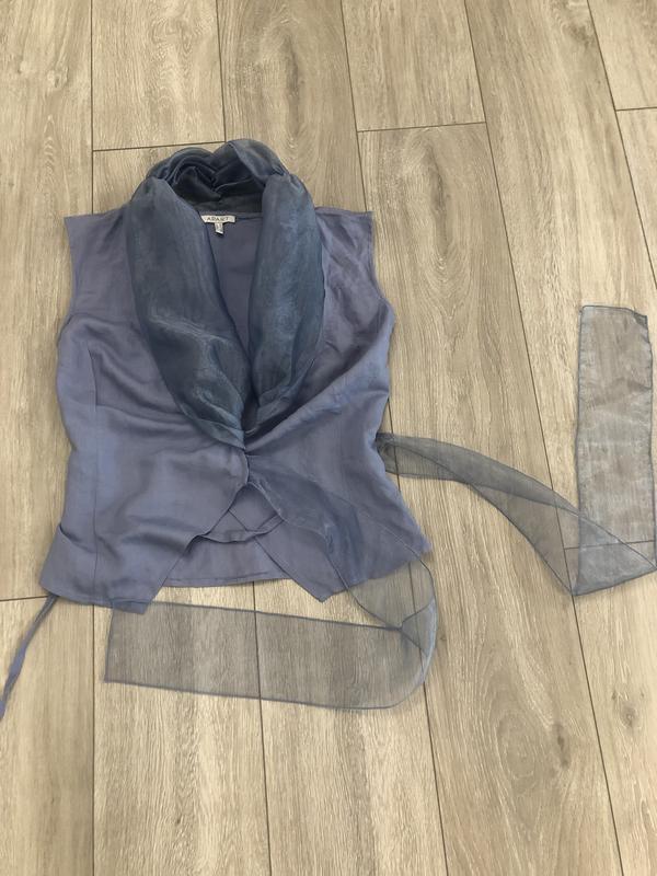 Роскошная блуза из льна и органзы. - Фото 4