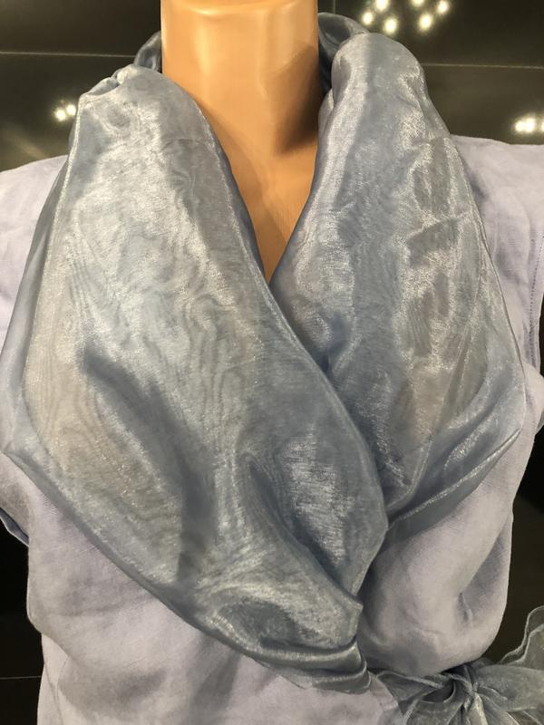 Роскошная блуза из льна и органзы. - Фото 6