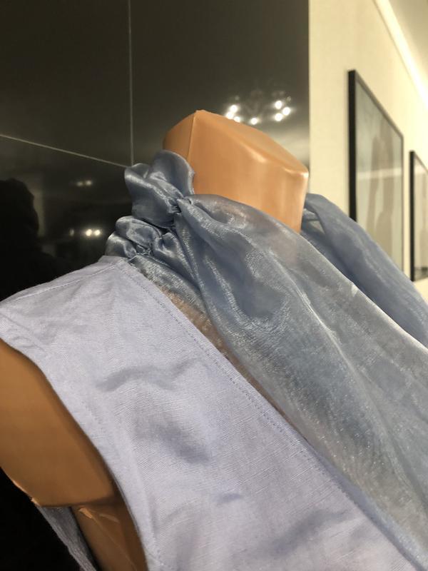 Роскошная блуза из льна и органзы. - Фото 7