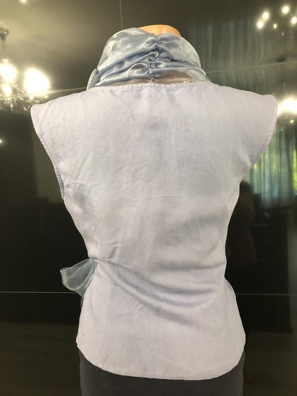 Роскошная блуза из льна и органзы. - Фото 8