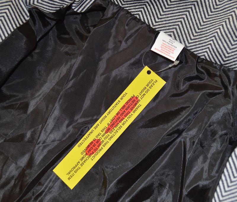 Брендовое флисовое легкое пальто с кожаными вставками и карман... - Фото 5