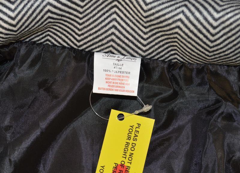 Брендовое флисовое легкое пальто с кожаными вставками и карман... - Фото 6