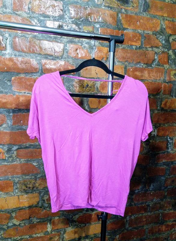 Свободная блуза топ кофточка футболка покроя летучая мышь atmo...