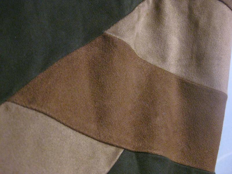 Платье lola&liza миди орнамент замш бежевое коричневое разноцв... - Фото 2