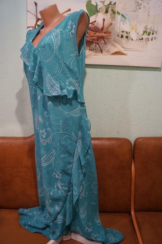 Платье макси р.16 - Фото 3