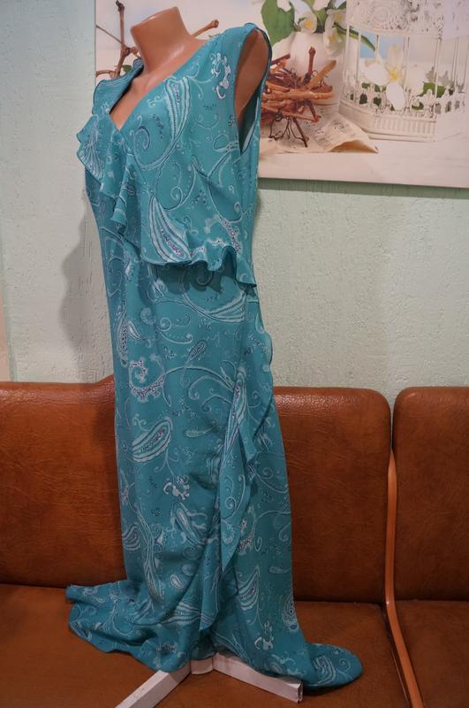 Платье макси р.16 - Фото 4