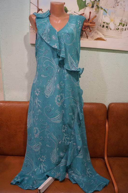 Платье макси р.16 - Фото 8