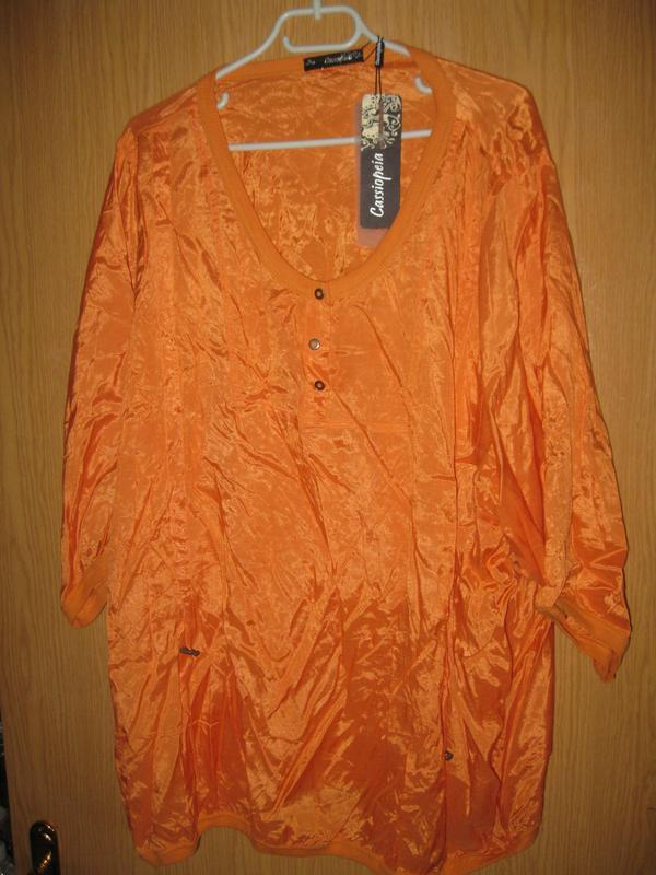 "Новая оранжевая блузка ""cassiopeia"" р. xl"