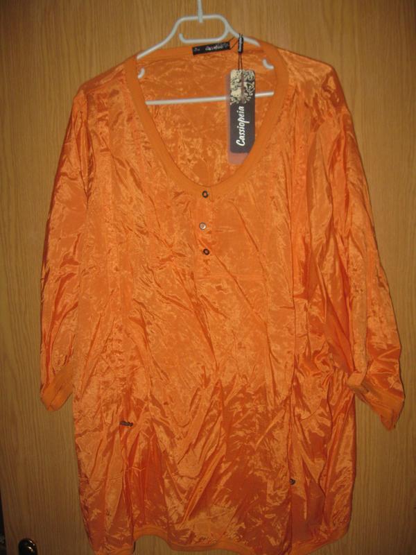 """Новая оранжевая блузка """"cassiopeia"""" р. xl - Фото 2"""