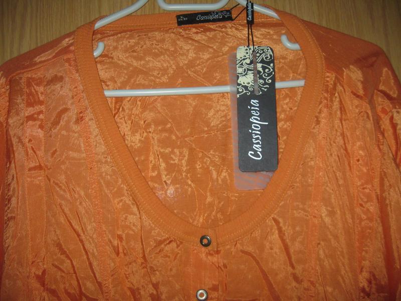 """Новая оранжевая блузка """"cassiopeia"""" р. xl - Фото 4"""