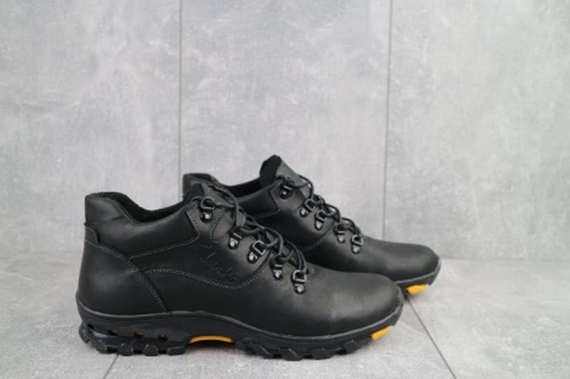Мужские зимние ботинки из натуральной кожи yuves 501 - Фото 3