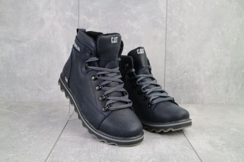 Мужские зимние ботинки из натуральной кожи cat 101