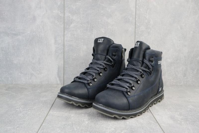 Мужские зимние ботинки из натуральной кожи cat 101 - Фото 2
