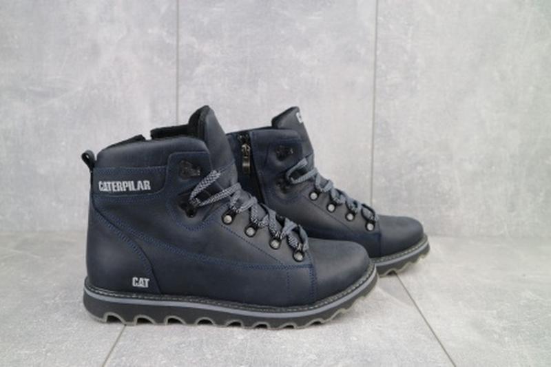 Мужские зимние ботинки из натуральной кожи cat 101 - Фото 3