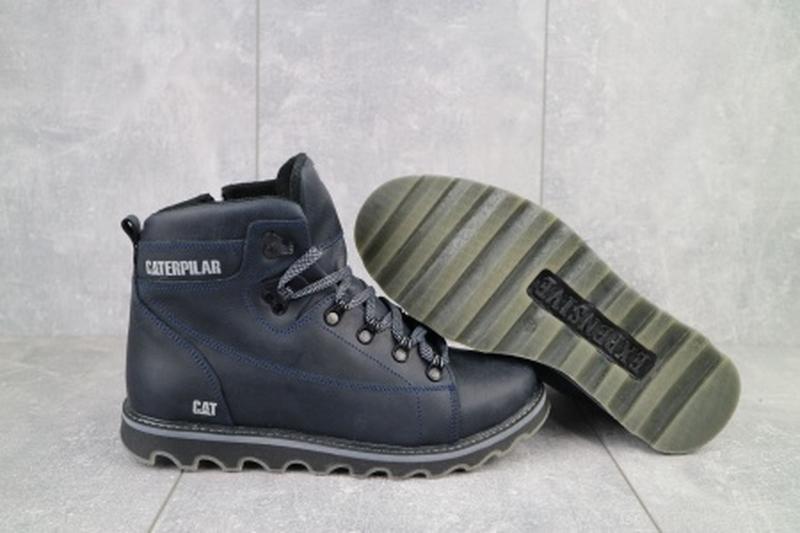 Мужские зимние ботинки из натуральной кожи cat 101 - Фото 4
