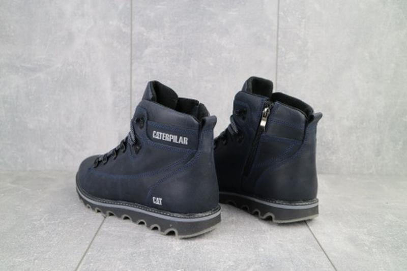 Мужские зимние ботинки из натуральной кожи cat 101 - Фото 5