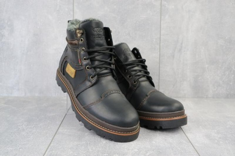 Мужские зимние ботинки из натуральной кожи riccone 315