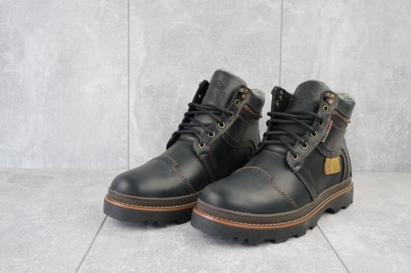 Мужские зимние ботинки из натуральной кожи riccone 315 - Фото 2
