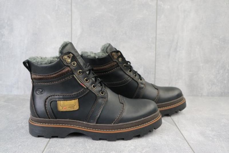 Мужские зимние ботинки из натуральной кожи riccone 315 - Фото 3