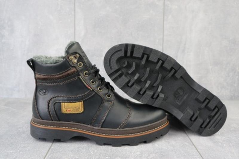 Мужские зимние ботинки из натуральной кожи riccone 315 - Фото 4