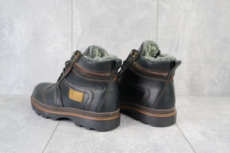 Мужские зимние ботинки из натуральной кожи riccone 315 - Фото 5