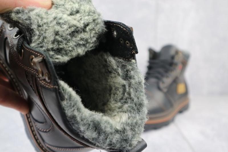 Мужские зимние ботинки из натуральной кожи riccone 315 - Фото 6