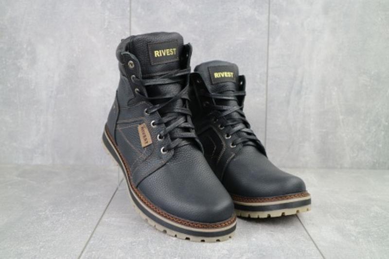 Мужские зимние ботинки из натуральной кожи rivest 30