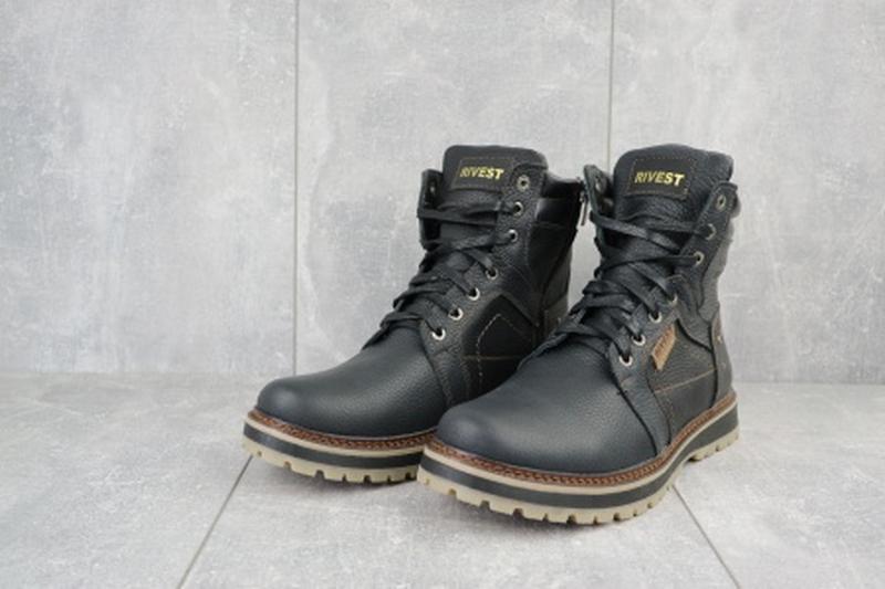 Мужские зимние ботинки из натуральной кожи rivest 30 - Фото 2