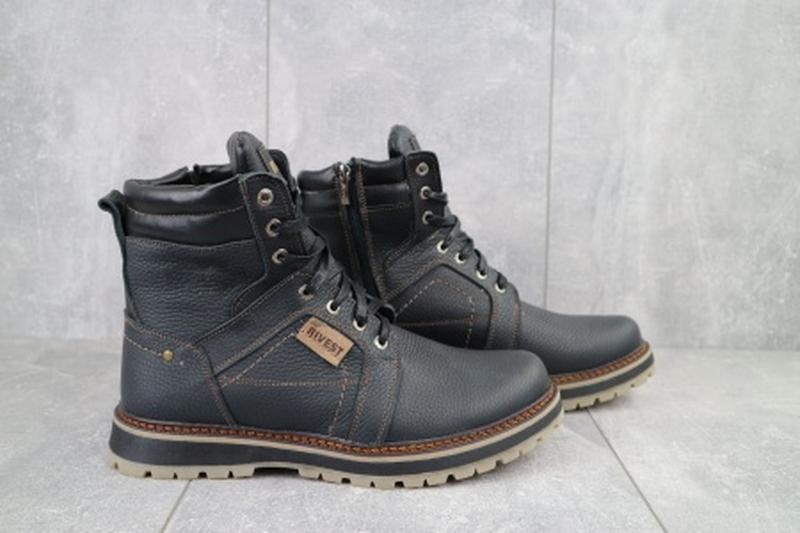 Мужские зимние ботинки из натуральной кожи rivest 30 - Фото 3