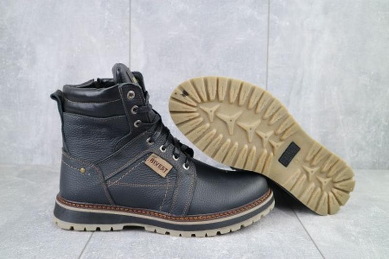 Мужские зимние ботинки из натуральной кожи rivest 30 - Фото 4