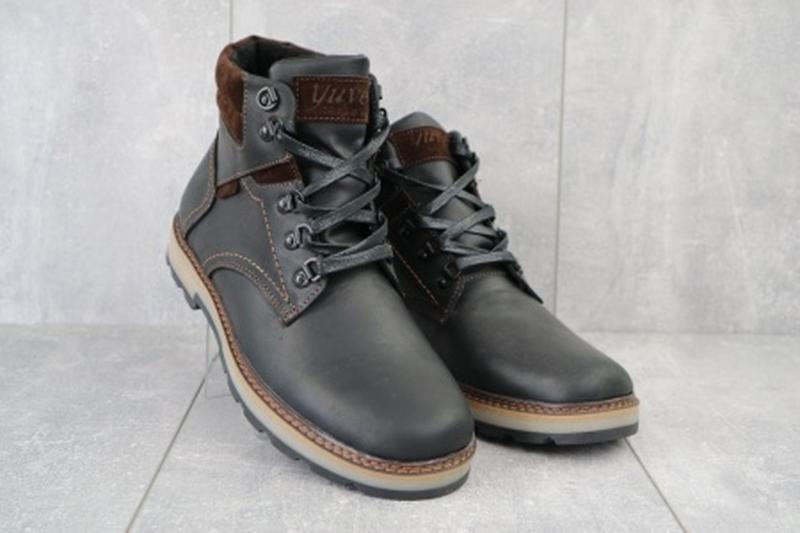 Мужские зимние ботинки из натуральной кожи yuves 779