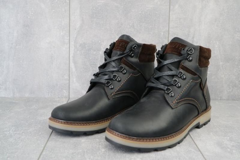 Мужские зимние ботинки из натуральной кожи yuves 779 - Фото 2