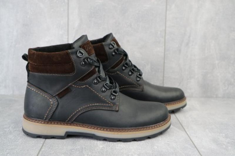Мужские зимние ботинки из натуральной кожи yuves 779 - Фото 3